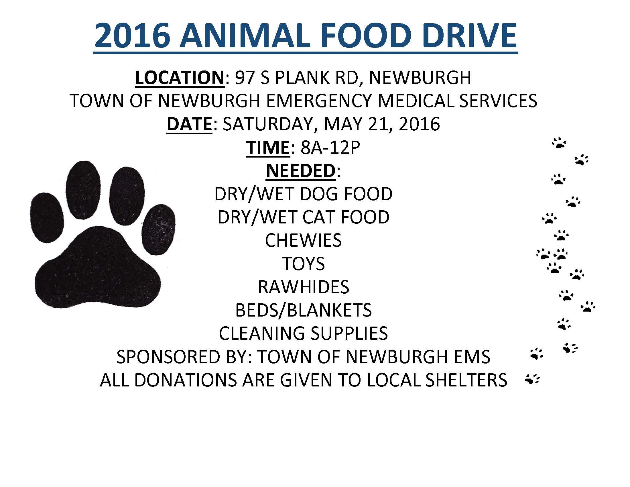 Animal Food Drive 2016